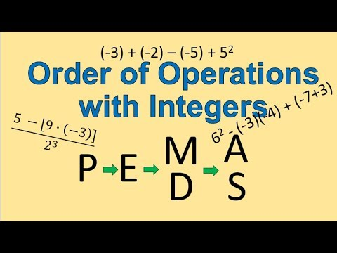 PEMDAS with Integers (Simplifying Math)