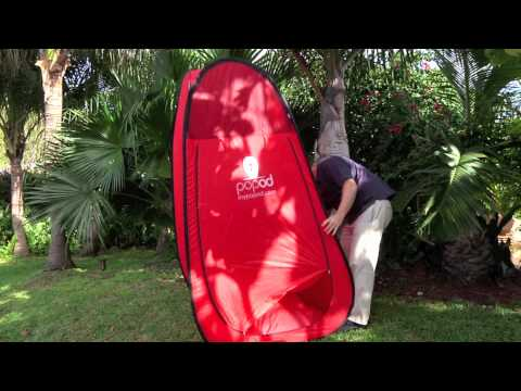 Portable Changing Room instructional video - Opening & Closing My Popod