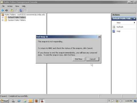 Mail Enable Public Folder Configured by EMC in Exchange Server 2010