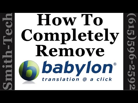 How To Remove The Babylon Toolbar From Firefox, Chrome and Internet Explorer