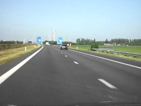 Driving in France to Belgium