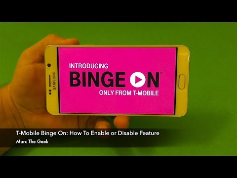 T-Mobile Binge On: How To Enable or Disable (YouTube Now Supported)