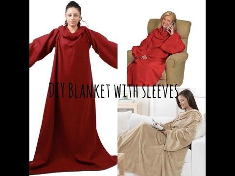 DIY blanket with sleeves