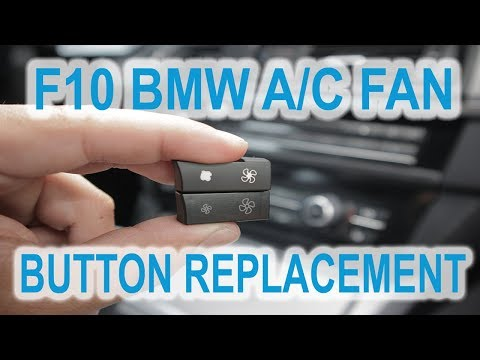 BMW F10 F11 5 series A/C button replacment fix