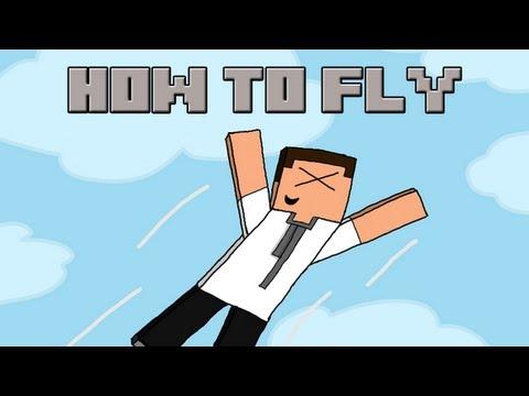 How to fly (Minecraft Machinima)