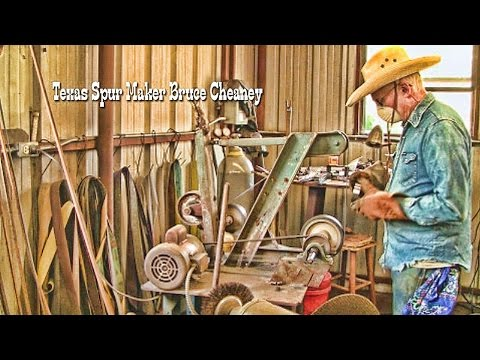 Metal Working: Quick look inside the bit and spur shop and a pair of handmade spurs in the making