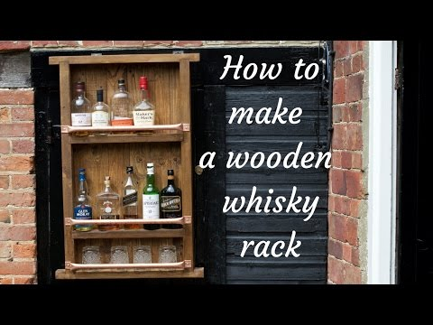 How to make a wooden bottle / wine / whiskey rack