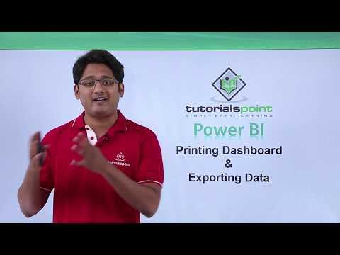 Power BI - Printing dashboard and exporting data