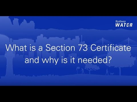 Section 73 Compliance Certificates