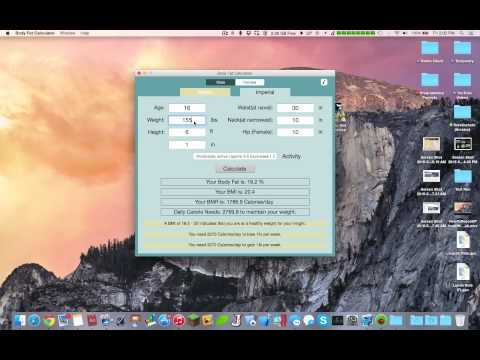 Body Fat Calculator - Mac App Overview