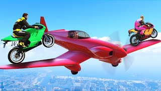 DRIVE OVER FLYING PLANES CHALLENGE! (GTA 5 Funny Moments)