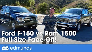 Ford F-150 vs. Ram 1500 | Full-Size Truck Comparison Test | Two of the Most Popular Trucks Face Off