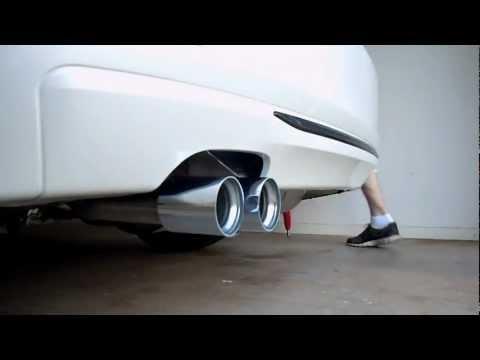 bmw f30 328i stock vs m performance exhaust - cold start - bmw 328i
