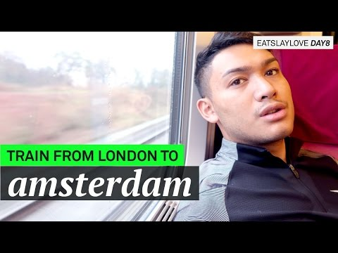 Taking the Train from London to Amsterdam! - EatSlayLove Day 8 - ohitsROME Travel Vlogs