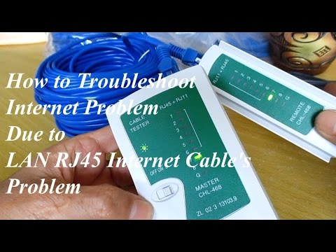 No Internet Connection - How to check long distance Lan network ethernet cable