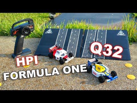Micro RC Race Car Ramping - HPI Racing Q32 Formula One F1 - TheRcSaylors