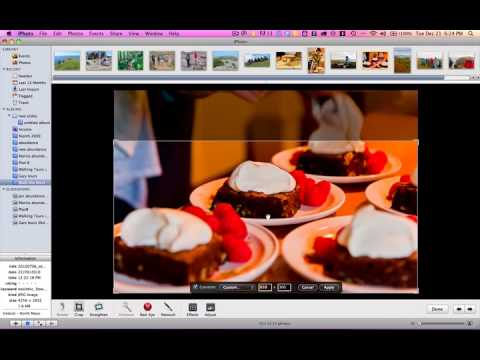 How to crop and resize images for web using iPhoto (Apple Mac)