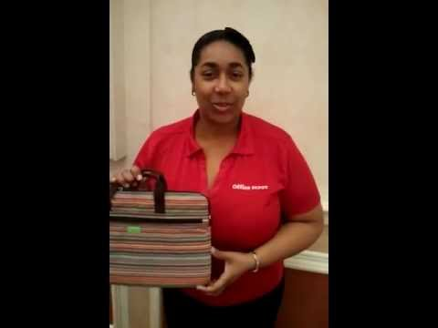Shari Francis of Office Depot with Casauri Laptop Bag