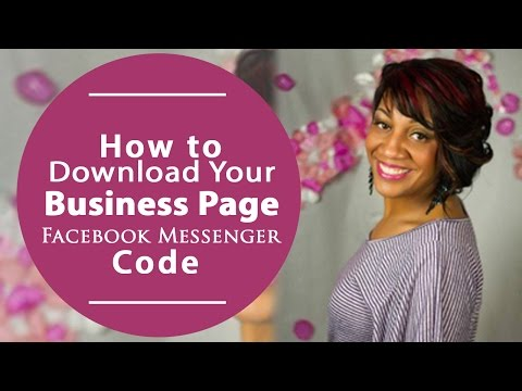 How To Download Your Business Page Facebook Messenger Code