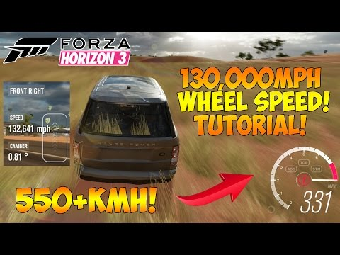 Forza Horizon 3 - HOW TO DRIVE OVER 900KMH! 150,000MPH WHEEL SPEED GLITCH!