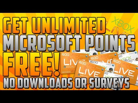 How to Get Unlimited Microsoft Points Glitch FREE! *WORKING* - Xbox 360 -  2014 January