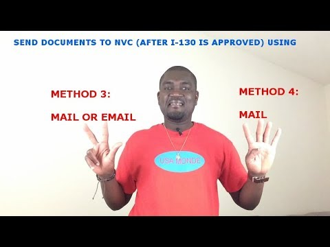 APPLICANTS WHO CAN SEND THEIR DOCUMENTS TO NVC USING EMAIL &  MAIL