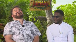 Jumanji: Welcome to the Jungle: Jack Black & Kevin Hart Official Movie Interview