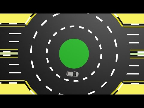 Roundabouts drive test - animation