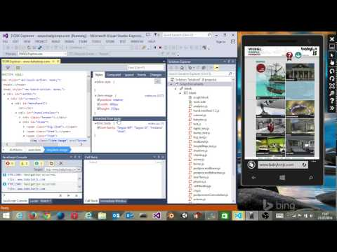 How to remote debug a HTML5 website on Windows Phone/Mobile IE using Visual Studio 2013
