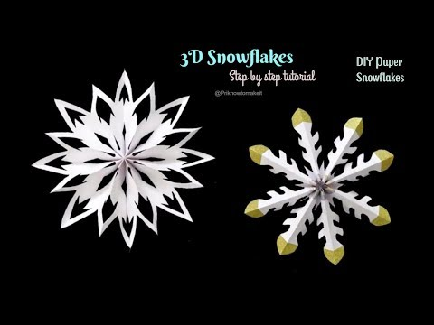 DIY Paper Snowflakes - How to make Snowflakes with paper ❄ DIY Christmas Decor