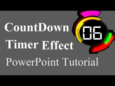 How to Make Countdown Timer Effect Using PowerPoint | PowerPoint 2016 Tutorial