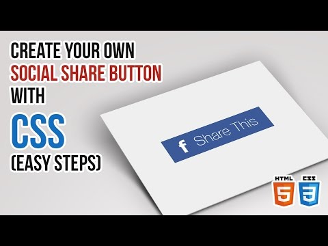 Create Your Own Social Share Button with CSS (Easy Steps)