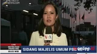 Laporan Langsung VOA untuk Metro Pagi PrimeTime RCTI: Sidang Majelis Umum PBB