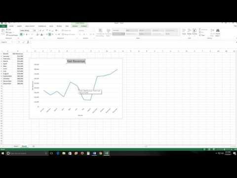 Microsoft Excel Basic Line Graph Tutorial