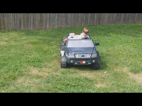 Kid Driver Seems to Fall Asleep at Wheel of Toy Truck