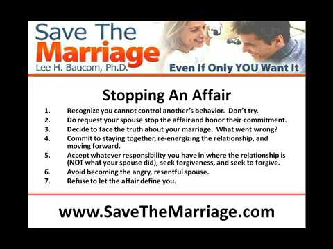 How To Stop An Affair
