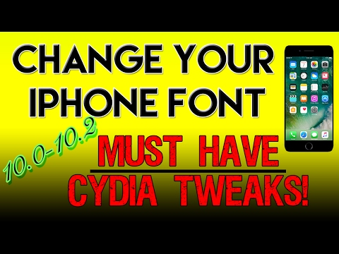 HOW TO CHANGE YOUR FONT iOS 10, 10.1.1, 10.2 On The iPhone, iPad, and iPod Touch! 2017! BytaFont!
