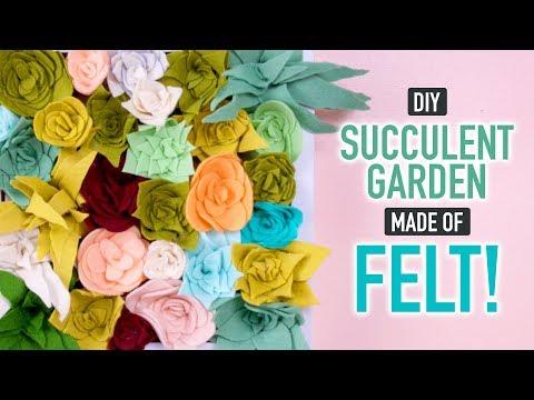 DIY Faux Succulent Garden made of Felt - HGTV Handmade
