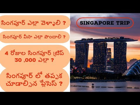 Singapore trip in 30k || Tourist visa and places to visit in Singapore in Telugu