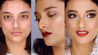 one bride two makeup looks plus vitiligo east meets west makeup tutorial