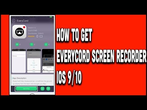 HOW TO GET EVERCORD SCREEN RECORDER FREE (NO JAILBREAK/PC) IOS 9-10 iPhone,iPod & iPad