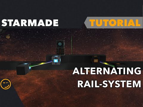 Starmade how to build alternating rail system