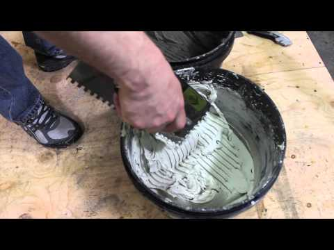 How To Apply Thinset - Tile Installation Video - The Tile Shop