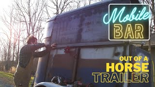 Turning rusty trailer into Beautiful Bar - Mobile Bar Build Ep.4