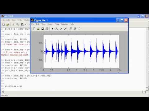 Matlab demonstration - basic signal manipulation using audio signals