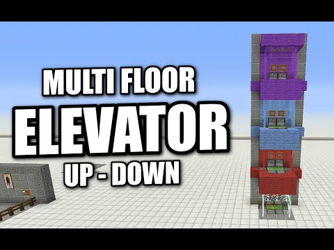 Minecraft PS4 - ELEVATOR - MULTI FLOOR - UP & DOWN - Tutorial ( PS3 / XBOX / WII / PE )