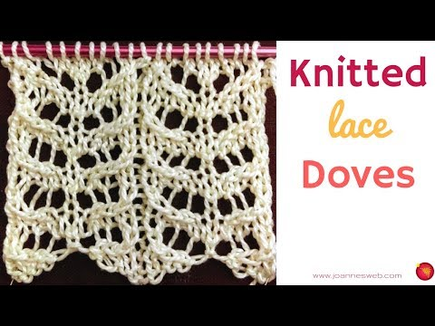 Knitted Doves - Knitting Wing Pattern - Lace Knitting Patterns