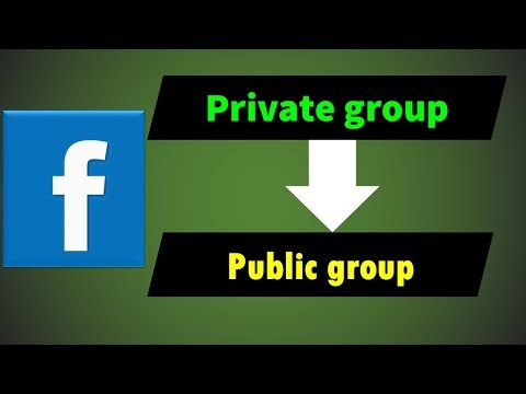 Make your Facebook private group into public