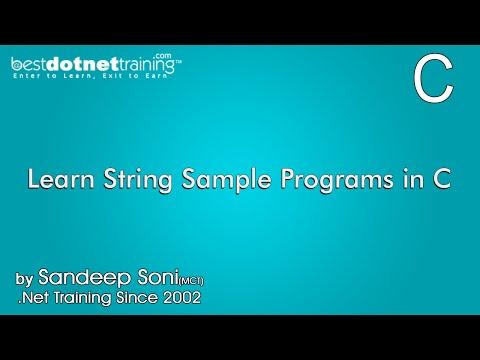 Learn String Sample Programs in C Programming
