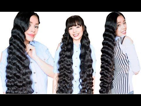 No Heat Plastic Cover Curls -Heatless Korean Wavy Hair & Long Hair Hairstyles